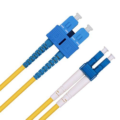 1m LWL Patchkabel LC auf SC - OS2 Singlemode Glasfaserkabel Duplex 9/125µ(LSZH) für 1G/10Gb SFP+ Transceiver, Medienkonverter - ipolex