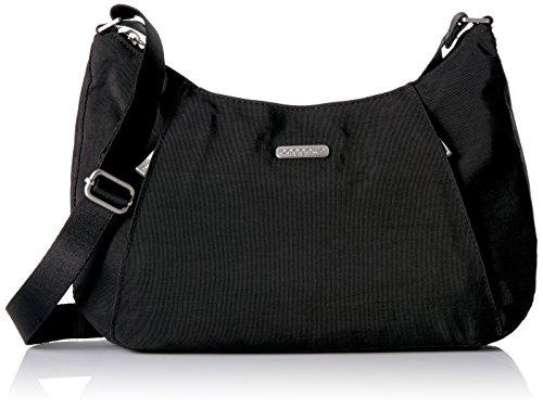 Baggallini womens Slim Crossbody hobo handbags, Black, One Size US