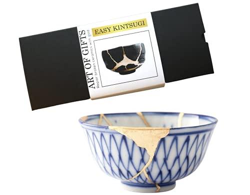 Footricion Kintsugi Repair kit Gold Set - Premium Porzellan kleber wasserfest - XL kleber Gold Set - Easy Kintsugi Craft