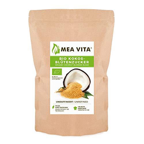 MeaVita Sucre de Fleurs de Cocotier Biologique Non Raffiné en Sac 1 kg