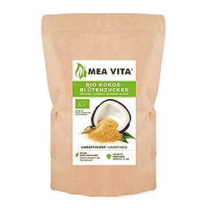Meavita Azúcar De Coco, Sin Refinar, 1 Paquete (1x 1000 g) En Una Bolsa
