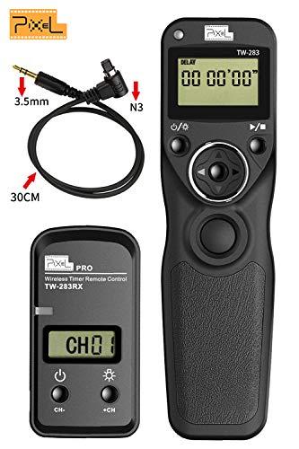 Fernauslöser für Canon, Pixel TW-283N3 LCD Timer Shutter Kabellose Fernauslöser für Canon EOS 7D 5D Series 1D Series 6D 50D 40D 30D 20D 10D Series