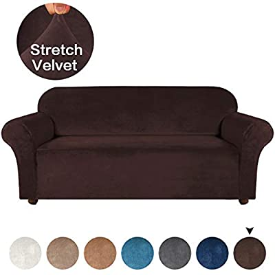 Turquoize Velvet Sofa Cover/Couch Covers/Lounge Cover, 1-Piece Plush Sofa Slipcover for Living Room with Spandex Plush Fabric Furniture Cover/Protector