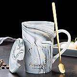 Mármol natural 12 Constelación taza de cerámica personalidad creativa taza de café 12 x 8 cm Acuario