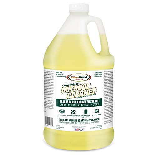 CITRA-SHIELD Ready to Use Exterior Cleaner | Home Improvement Exterior Cleaner | Concrete Cleaner, Roof Cleaner, Sidewalk Cleaner, Headstone Cleaner, Paver Cleaner, House Siding & Deck Cleaner | 1 Gallon