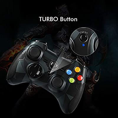 2019 Edition Camouflage Gamepad EasySMX New Wired Army Camouflage Cool Gaming Joysticks for PC PS3 Dual Vibration Turbo Game Controller for PC//Android Phone Tablet//Window