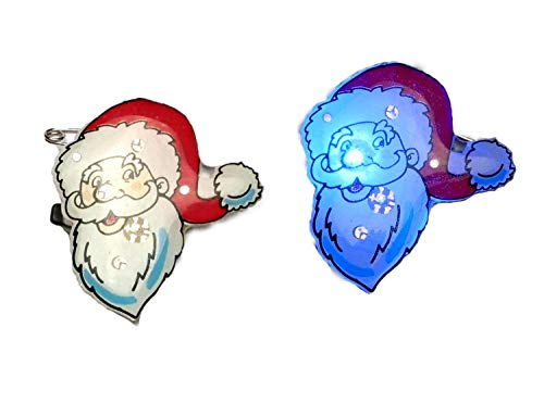 Eva Shop® - Pin de goma con luz LED parpadeante, para Navidad, decoración de Navidad, decoración navideña