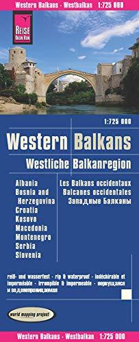 Reise Know-How Landkarte Westliche Balkanregion (1:725.000) : Albanien, Bosnien und Herzegowina, Kosovo, Kroatien, Mazedonien, Montenegro, Serbien, ... reiß- und wasserfest (world mapping project)