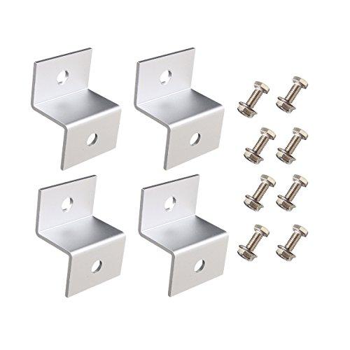 Giosolar ,4 pezzi, Z, Kit di montaggio per supporto pannello solare