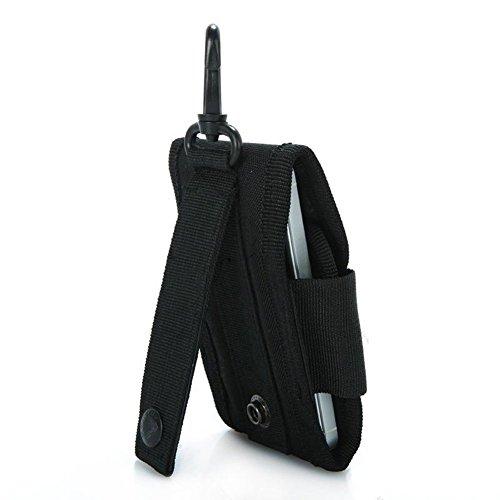Naisicatar Universel Tactique téléphone Sac Pochette pour Accessoires d'extérieur Sac Multifonction téléphone avec Boucle Noire Bon Choix