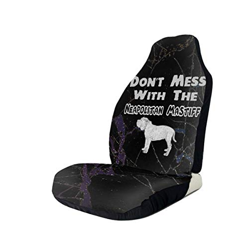 Why Choose Don't Mess with The Neapolitan Mastiff Dog Car Seat Covers for Vehicles Universal 3D Prin...
