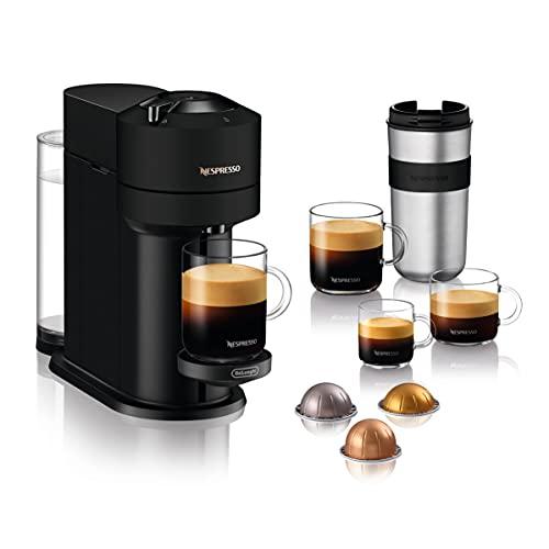 De'Longhi Nespresso Vertuo Next Nespresso-Kaffeemaschine, ENV120.BM, Schwarz matt