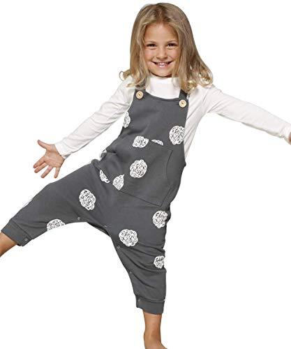 CORA happywear bebé 0-24Pantalones de Algodón orgánico Andrea Grigio Allover Roses 68