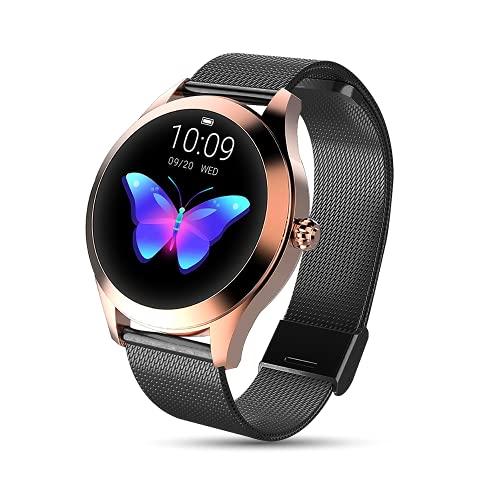 LUNIQUESHOP Reloj ROUND conectado con pantalla dinámica, monitor de frecuencia cardíaca, deporte y sueño. Pulsera táctil inteligente, resistente al agua para Android, iOS Huawei