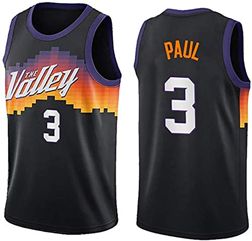 WSWZ Maglia da Basket NBA - Uomo - Chris Paul Maglie NBA 3# Phoenix Suns - Unisex Comodo Maglietta con Canotta Sportiva da Basket,XL(180~185CM/85~95KG)