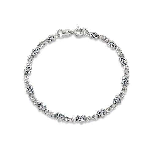 Filigranes Armband Sterling-Silber Keltische Herzen - Länge: 17.5 cm (5 mm breit) – 3129, in Geschenkbox