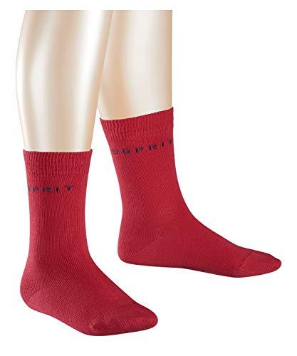 ESPRIT Foot Logo 2-Pack Calcetines, Rojo (Red Pepper 8074), 27-30 Unisex niños