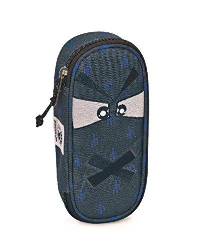 Portapenne INVICTA - LIP PENCIL BAG FACE - Grigio fantasia - porta penne scomparto interno attrezzato