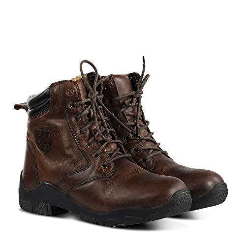 Horze Chamonix Women's Winter Leather Jodhpur Boots, Marrón, 39