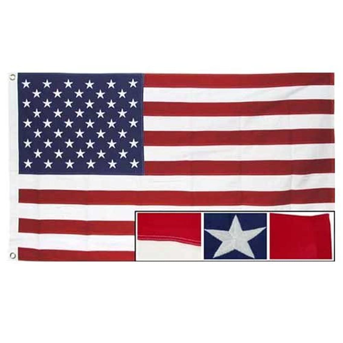 American 5x9.5 ft flag -- Cotton USA flag (5 X 9) (5'X9')