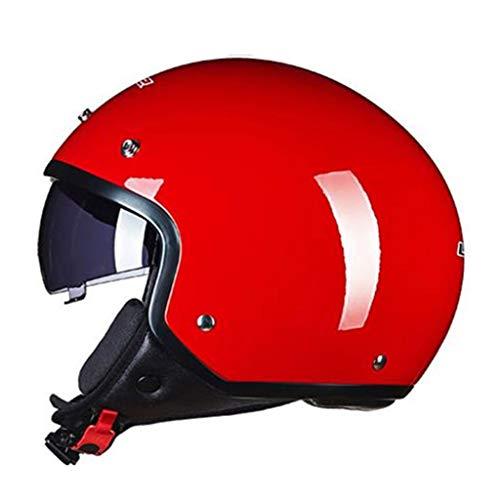 Lsrryd Pilot Mofa Jet-Helm Chopper Biker Retro Moto Vespa Cruiser Vintage Scooter· ECE-gecertificeerd · incl. Vizier · incl.