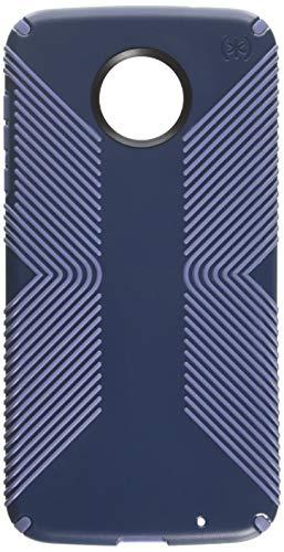 Capa de celular Speck Products Presidio Grip para Moto Z2 Force Edition, Presidio de Alta aderência, Marine Blue/Twilight Blue