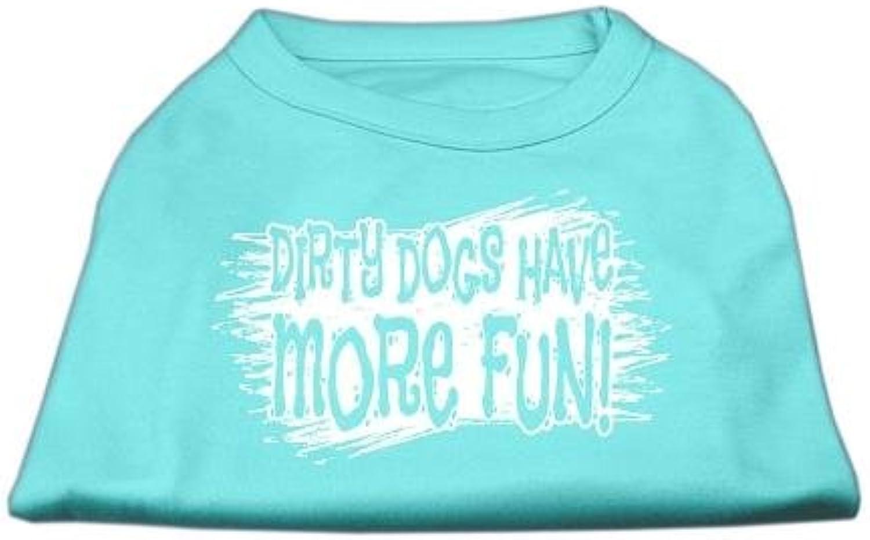 Dog   Cat   Pet Charms Dirty Dogs Screen Print Shirt Aqua XXL (18)