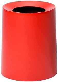 Ideaco TUBELOR Homme Designer Round Waste Bin, Conceals Any Plastic Bag 3.0 Gal, Matte MID Century RED