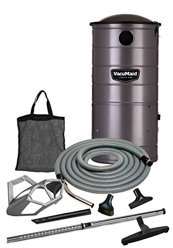 VacuMaid UV150GKP Extended Life Professional Wall Mounted Utility Vacuum with 50ft. Garage Kit Pro (Unit and Kit)