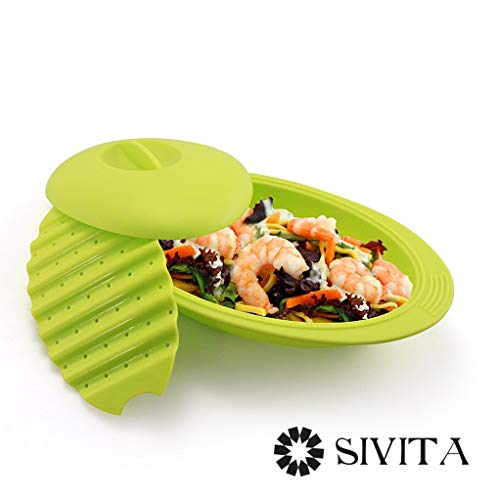 Papillote en silicone spéciale micro-ondes 28 cm Vert