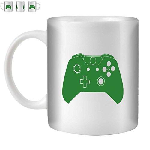 STUFF4 Tee/Kaffee Becher 350ml/Grün/Xbox One Controller/Weißkeramik/ST10