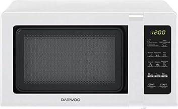Daewoo KOR-662BW - Microondas (Encimera, Solo microondas, 20 L, 7000 W, Tocar, Blanco)