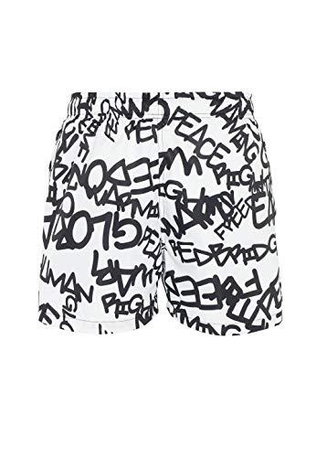 Bañador Corto y Secado rápido para Hombre Graffiti Tag Blanco XXL