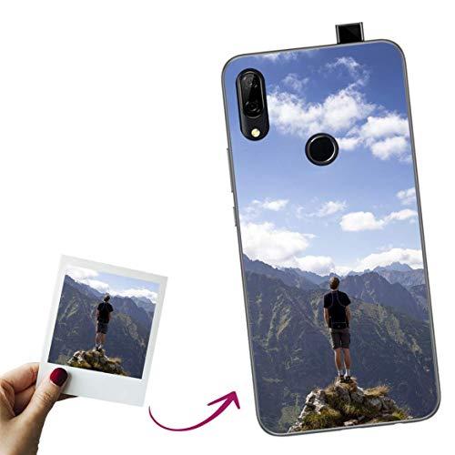 Mookase Funda para Huawei P Smart Z Personalizada para TU MÓVIL con Imagen O Texto, Carcasa Personalizable, Gel Flexible, Borde Trasparente, Regalo Original