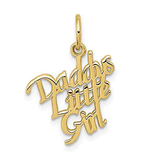10k Yellow Gold Daddys Little Girl Pendant Charm Necklace Fine Jewelry For Women Gifts For Her