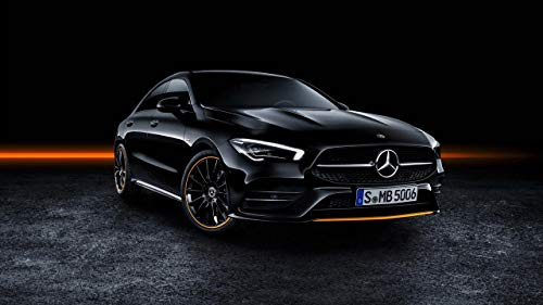 Filmposter Mercedes Benz CLA 250 AMG – Beste Druck-Kunstreproduktion Qualität Wanddekoration Geschenk – A4Canvas (12/8 Zoll) – (31/20 cm) – gespannt, fertig zum Aufhängen