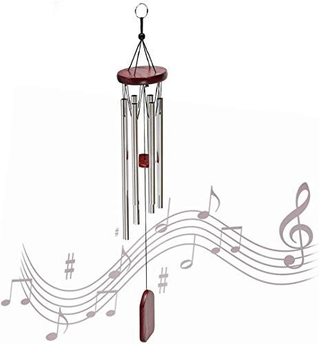 YHuHY Carillon à Vent 6 Tube métallique extérieur adapté pour terrasse de lit de Jardin et décoration de la Maison