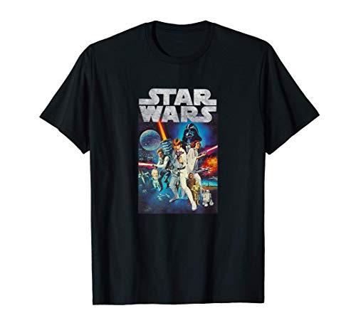 Star Wars Vintage Cast Poster Camiseta