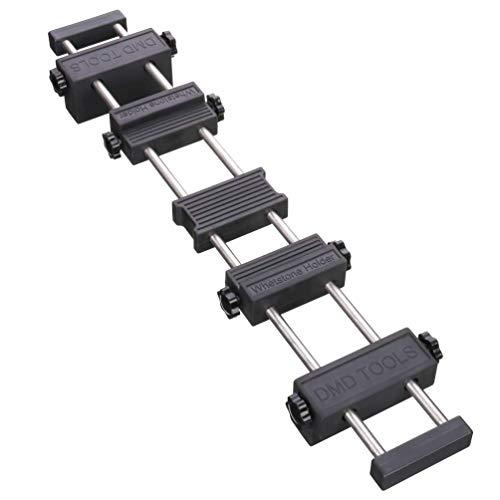 Soporte para piedra de afilar, soporte para piedra de afilar de puente de fregadero con goma antideslizante ajustable para fácil pulido de acero inoxidable 304