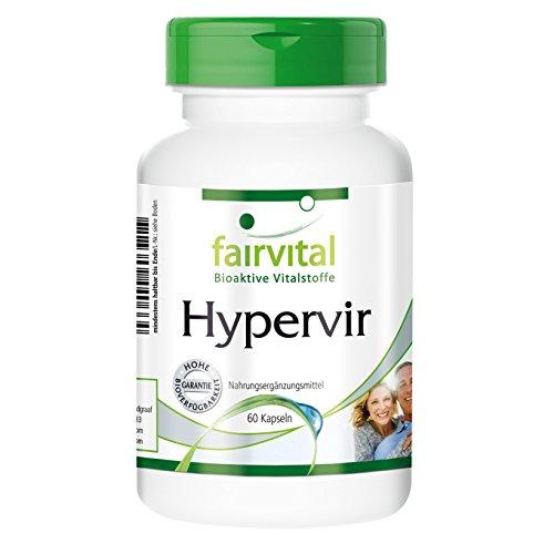 Hypervir - für Männer - VEGAN - 60 Kapseln - mit L-Arginin, Jujube, Ginseng u. Ginkgo