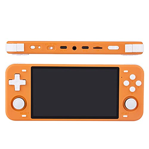 POWKIDDY Handheld Spielkonsole, RGB10MAX Retro Spielkonsole OpenDingux Tony System 128G / 5 Zoll IPS / 17000 Spiele / RK3326 Portable Spielkonsole mit WiFi Handkonsolen - Orange