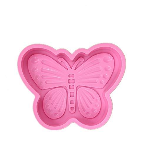 FENGHU DIY Silikon Schmetterling Kuchenformen Große runde Kuchenform SilikonformEinfaches Entformen