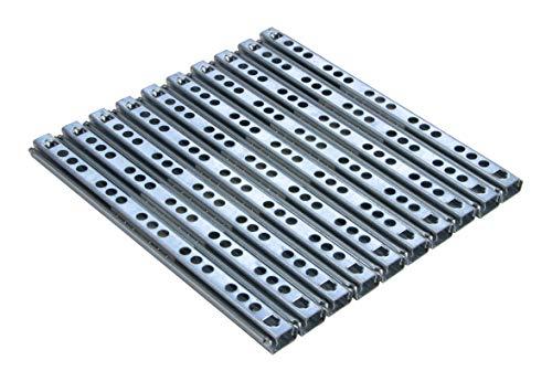 Gedotec Teleskopauszug Schubladenauszug 17 mm Teleskopschiene für Schubladen | Länge: 182 mm | Stahl verzinkt | Schubladenschienen Teilauszug | Tragkraft 12 kg | 5 Paar - Auszüge für Holz-Schubkästen