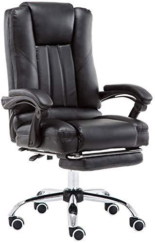 Silla de Oficina Silla de escritorio de oficina con la silla de juego del apoyabrazos del jefe cómodo silla giratoria de asiento largo del asiento respaldado Silla de estudiante de 145 ° Rechazo recli