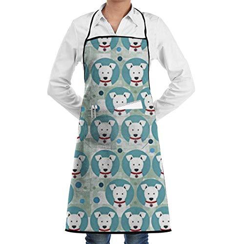 xcvgcxcvasda Einstellbare Latzschürze mit Tasche, Pitbulls Little Dogs Adjustable Schürze for Kitchen BBQ Barbecue Cooking Cooking Schürze,Kitchen Schürze,BBQ Schürze