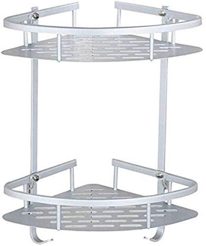 CJDM Pas de perçage, étagères d'angle de Salle de Bain adhésives, Support de Basket d'étagère de Caddy de Douche en alliage d'aluminium à 2 niveaux pour tenir le netyant pour le Visage au shamp