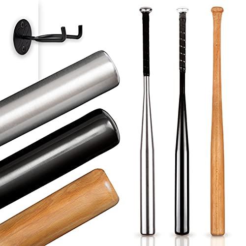 Dieker Sports® - Baseballschläger aus Aluminium (Silber) - Inklusive Wandhalterung - Rutschfester Griff für Softball Sport - Massiv verarbeitet (31 Zoll / 79cm)