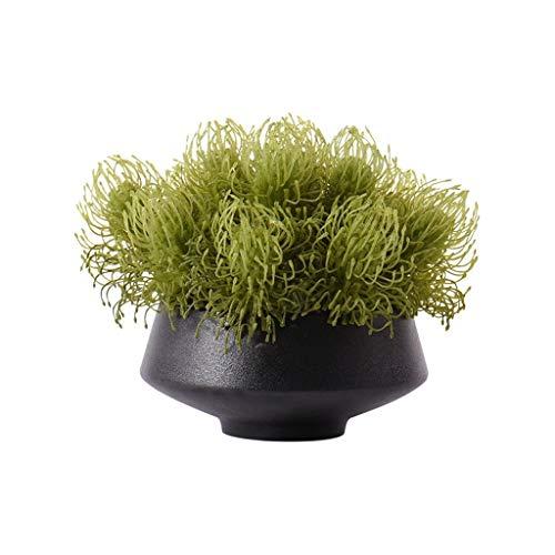 Fausse Plante Style chinois gazon artificiel Fausse fleur artificielle Plante verte, Maison Salon Table basse Table décoration florale de...