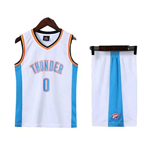 Conjunto de Camiseta de Baloncesto para niños n. ° 0, Equipo Thunder Westbrook 0# Conjunto de Camiseta de Baloncesto para niños para niños, Conjunto de Camiseta de Uniforme de Entrenamiento para