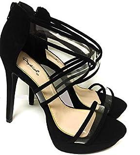 Qupid Black Heel Sandal For Women